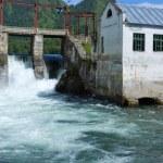 Altai: retro hydroelectric power — Stock Photo #54997587