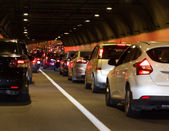 Traffic jam tunnel — Stock Photo