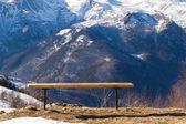 Dağların diğer tezgah — Stok fotoğraf