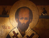 Saint Nicholas Icon — Stock Photo