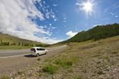 Mountains road car — Stock Photo
