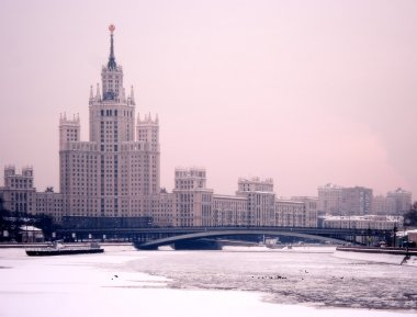 Moscow winter twilight