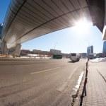Contemporary flyover Moscow landmark — Stock Photo #55054901