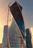 Modern skyscrapers construction — Stock Photo