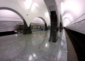 Subway station Moscow train — Foto Stock