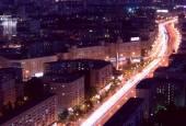 Moscow megalopolis night — Stock Photo