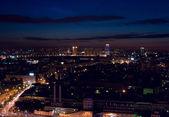 Aerial city night — Stock Photo