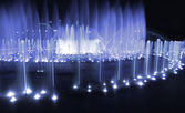 Fountain night blue — Stock Photo