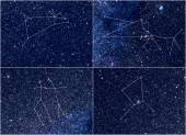 Zodiac constellations Aries Taurus Gemini Cancer — Foto de Stock
