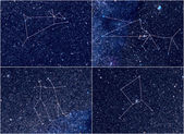 Zodiac constellations Aries Taurus Gemini Cancer — Zdjęcie stockowe