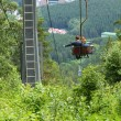 Chair lift couple hikers — Stock Photo #55070849