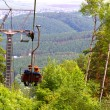 Chair lift young couple — Stock Photo #55070889