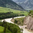 Landscape mountains valley river — Stock Photo #55097505