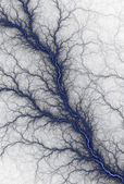 Blue Blood Vein on White — Stock Photo