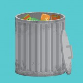 Vector Trash can, icon xxl — Stockvektor