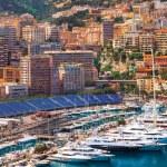 View of  Monaco harbour during formula 1 championship, Cote dAzur — Stock Photo #54797253