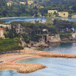 View of luxury Villefranche resort and bay. Cote dAzur — Stock Photo #54797265