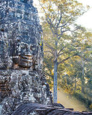 Bayon temple statue, Angkor, Siem Reap, Cambodia — Stock Photo