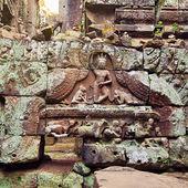 Angkor woman bas-relief, Cambodia — Stock Photo