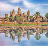 Angkor Wat temple at sunrise, Siem Reap, Cambodia — Stock Photo