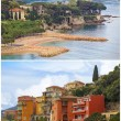Villefranche resort and bay collage, Cote dAzur — Stock Photo #64663595