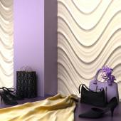 3d rendering of a fashion shopping showroom specialty — Stock Photo
