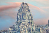 Bayon temple statues, Angkor, cross-process affect — Stock Photo