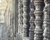 Angkor Wat temple windows  Cambodia — Stock Photo