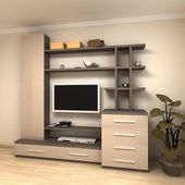 3d render of apartment living room — Stock Photo
