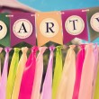 Colourful party swag banner — Stock Photo #68025795