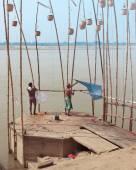 Holy ghat of varanasi, dead city — Stock Photo