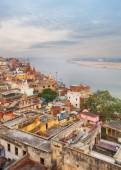 Scenic view over Varanasi from the roof — Stock Photo