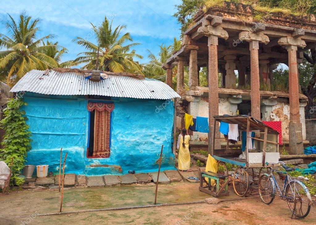 abitazione tradizionale indiano foto stock lena