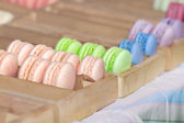 Macarons close-up in a box — Stock Photo