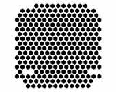 PC case ventilation grille — Stock Photo