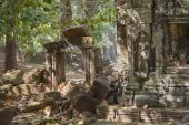 Remains of  Angkor temples, Cambodia — Stock Photo