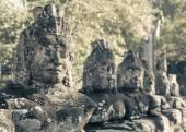 Prasat Bayon храма ворота статуи, Ангкор, Камбоджа — Стоковое фото