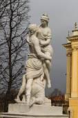 Statue 'Abduction of Helena' in the garden of Schonburnn — Stock Photo