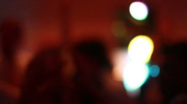 Party Dj Lights, People Dancing At Night — Vídeo de stock