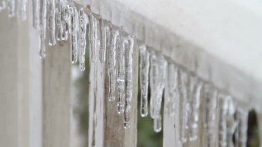Ice Storm, Icing, Icicle — Stock video