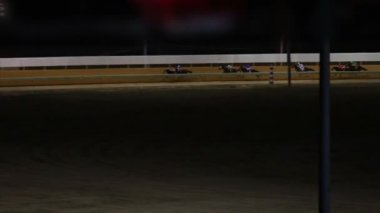 Horses Racing Down Track — Stock Video