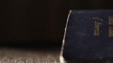 美国护照 — 图库视频影像