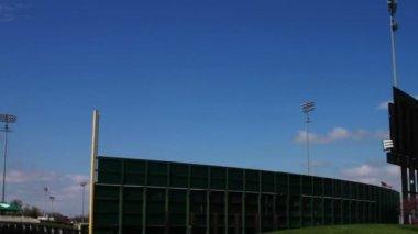 Baseball Stadium with Blue Sky — Stock Video