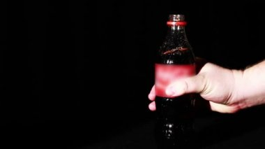 Soda Bottle Being Open Up — Vídeo de stock