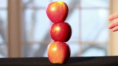 Apples On Top of Each Other — Stock Video