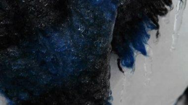 Snow Man, Ice Storm, — Stock Video