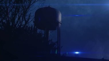 Water Tower — Stock Video
