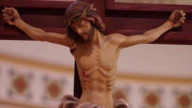 Jezus op kruis — Stockvideo