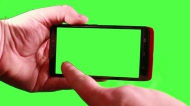 Med hjälp av en smart telefon — Stockvideo