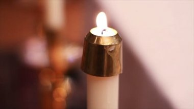 Candles at Church — Stock Video